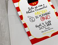 5x7 invitation/Envelope PSD mockup