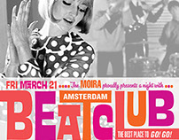 Flyer for Amsterdam Beatclub at Moira Utrecht