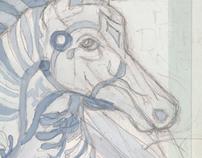 blue blue horse