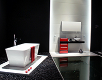 Solux Rosso Bathroom