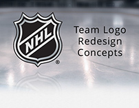 NHL Team logo design concepts