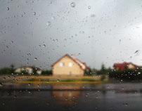 camda yağmur/window to the falling rain