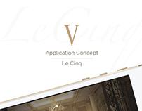 Le Cinq   App concept