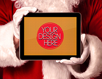 Santa Laptop Screen mockups