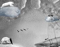 """Collage """"Llovían ranas en tus manos"""""""
