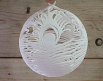 3D Printed Peacock Bauble