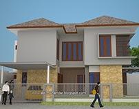 Arsitektur Rumah Tropis Modern Pojok Pakuwon City Sby