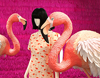 Kate Spade NY Showroom Flamingos