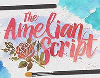 Amelian Script Typeface