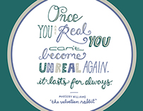 """The Velveteen Rabbit"" Hand Lettering"