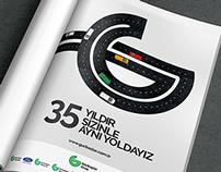 Gürbaşlar 35. Yıl Dergi ilanı