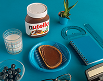 NUTELLA | monochrome serie| turquoise breakfast