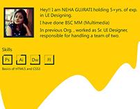 UI Portfolio Design