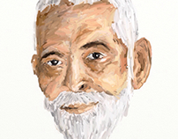 iPad painting of Ramana Maharishi