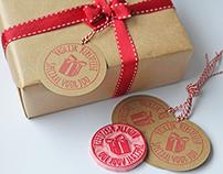 Handmade Christmas labels