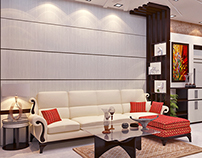 Arabic contemporary Living & Dining Space