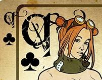 Steampunk playing card deck