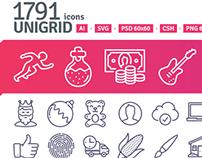 1791 icons in Unigrid set