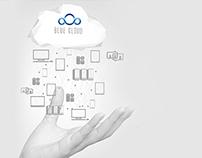 Cloud Computing Industry website concept