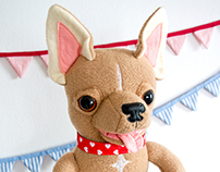 Chihuahua, soft art toy