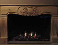 Wood carved mantel for fireplace