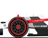 Audi Sport F1 concept livery (ft. on Fourtitude)