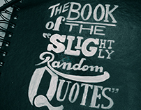 """The Book of the Slightly Random Quotes"""