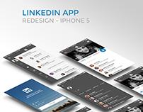Redesign Linkedin App