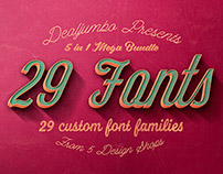 Mega Bundle: 29 Custom Fonts