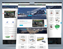 Egy4Trade Business / Corporate Website Design