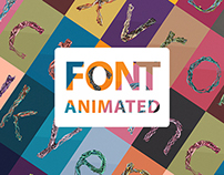 PAINT LINES FONT ANIMATED