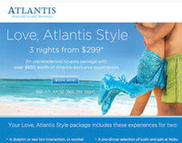 Atlantis Resort email marketing campaigns.