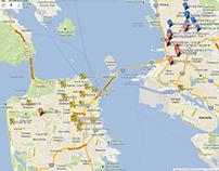 Google Maps Visualization