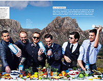 Bombay Sapphire advertorial in GQ