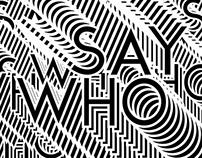 SAY WHO ! - PARTY E-FLYER