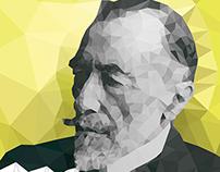 Joseph Conrad Polygon Portrait