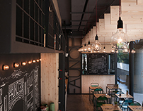 FAUNO / Bistrot / architectural interior photography