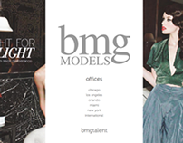 Redesigned BMG Models & Talent Website.