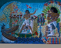 A mural of Pharaonic art