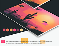 Arizona Sunset Vector Illustration