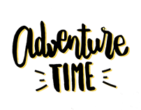 Adventure time lettering quotes