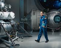 Spaceman Sergey Ryazanskiy