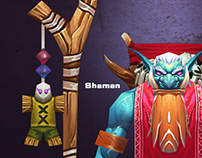 Shaman 3d character design