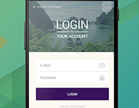 Android Travel App Login Screen