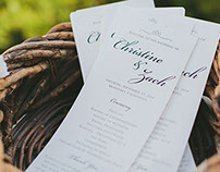 Harney Wedding Programs