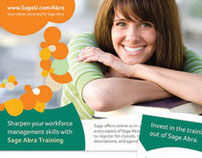 Sage Abra Training -  Poster and Direct Mail