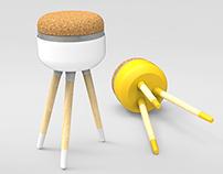 Knob stool