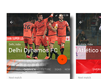 Indian Football League Material Design UI
