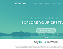 Mountain One Page Theme PSD Template