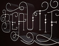 3D Beautiful Typography